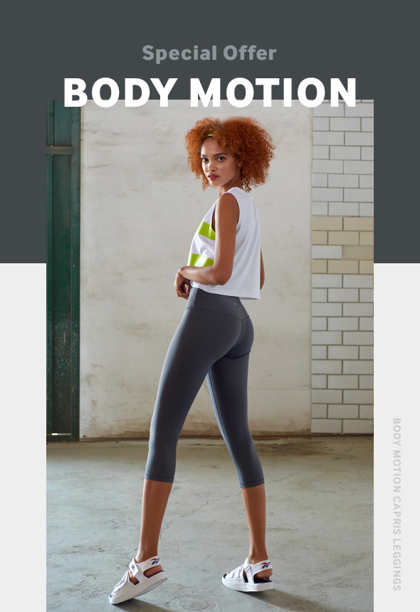 [-85% 한정수량 ] [MSBL01_04CH] BODY MOTION CAPRIS LEGGINGS